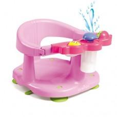 Scaun baie bebe cu stropitoare si jucarii roz
