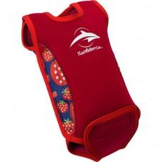 Costum termoreglabil din neopren BabyWarma Nautical Strawberry
