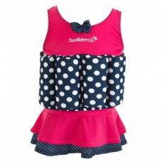 Costum inot copii cu sistem de flotabilitate ajustabil Pink Skirt