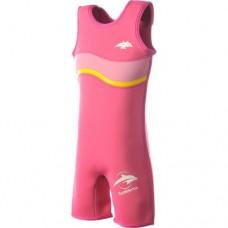 Costum inot copii din neopren Warma Wetsuit Pink