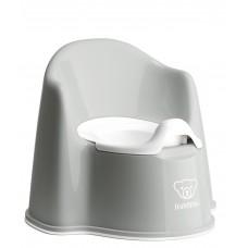 Olita cu protectie spate Potty Chair Grey / White