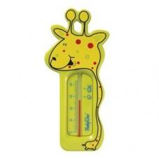 Termometru de baie cu girafa - galben si albastru