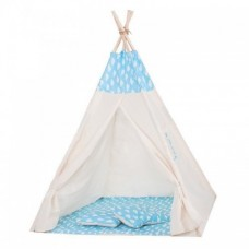 Cort copii stil indian Teepee Blue Clouds XXL