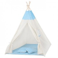 Cort copii stil indian Teepee Blue Stars XXL