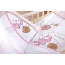 Set lenjerie 3 piese Little Bunny bej-pink