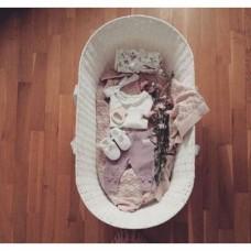 Cosulet bebe pentru dormit handmade din material ecologic Baby alb