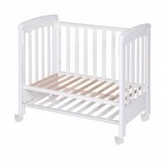 Patut co-sleeping 85x48 cm cu laterala culisanta Dreamy Mini Alb + saltea