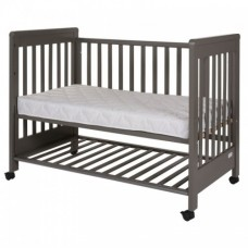 Patut co-sleeping 120x60 cu laterala culisanta si roti Dreamy Plus Grey