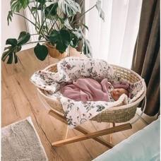 Cosulet bebe pentru dormit handmade din material ecologic Baby natur cu stand
