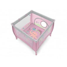 Baby Design Play UP Tarc pliabil 08 Pink 2019 - cu inele ajutatoare