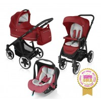 Carucior Multifunctional 3 in 1 Lupo Comfort 02 Dark Red 2016