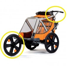 Kit pentru remorca de bicicleta B-Travel (set roata frontala si maner)  Bellelli Jogging