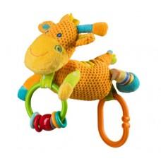 Jucarie velur cu sunatoare - girafa