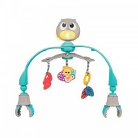 Arcada muzicala pentru carucior sau patut Owl, cu lumini si carusel