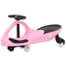 Masinuta Pink cu roti din cauciuc si lumini