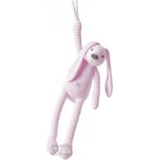 Jucarie muzicala de plus Iepurasul Reece Pink, 38 cm
