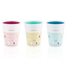 Set de 3 pahare multicolore