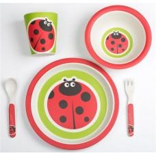 Set alimentatie Bamboo Ladybug, 5 piese