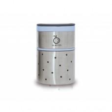 Termos mancare solida cu doua recipiente independente 250+570 ml bleu